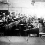 Produktion von Bode Panzer Tresore um 1930